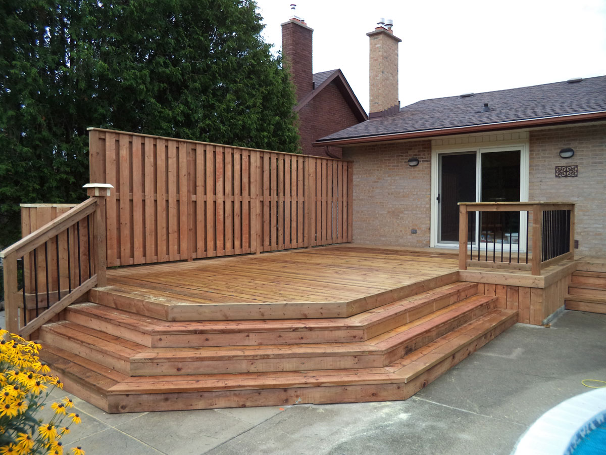 Premier Fencing Wood Deck Installation ∙ Cost 183 Builder