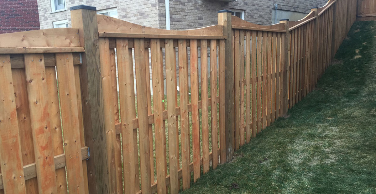 Wood fencing installation pressure treated cedar